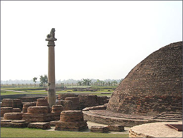 Remains of the ancient city of Vaishali.