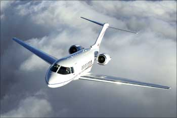 A Hawker 4000 aircraft...