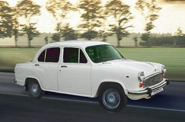An Ambassador car.