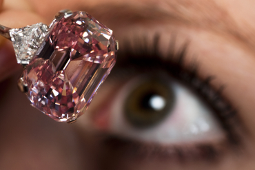 A 24.78 carat Fancy Intense Pink diamond in Geneva.