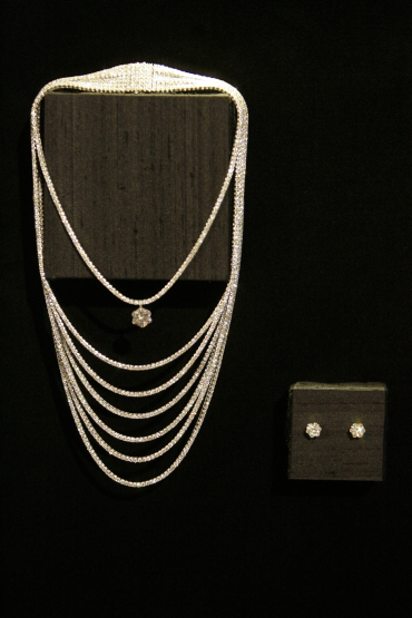 A Montblanc Eclat diamond necklace on display in Beverly Hills.