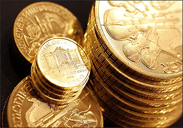 Wiener Philharmoniker gold coins.