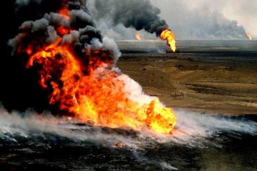 Iraqi army intentionally opened pipelines.