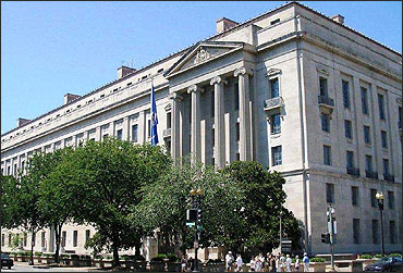 Building of the US Justice Department.