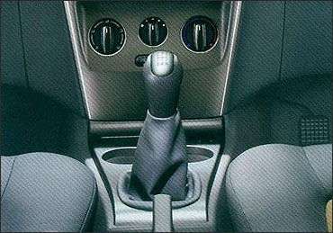 Tata Indica Vista gear shifter.