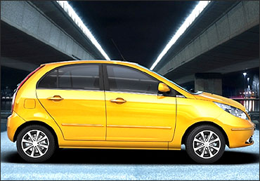 Side view of new Indica Vista.
