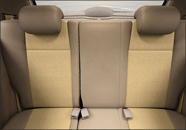 Tata Indica Vista rear seats.