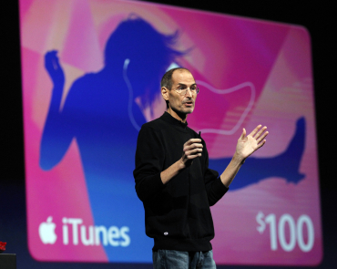 Steve Jobs discusses the iCloud service.