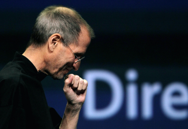 Jobs speaks at an Apple event.