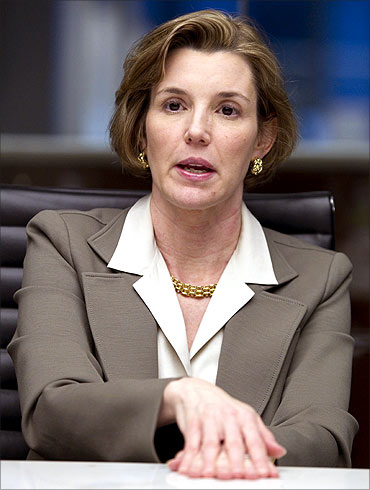 Sallie Krawcheck, president of Global Wealth and Investment Management for Bank of America.
