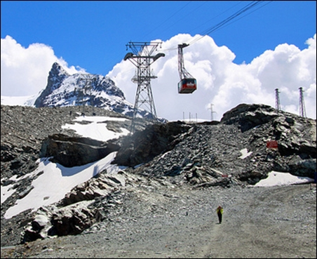 Klein Matterhorn Cable Car.