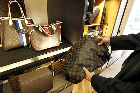 A fake LVMH handbag purchased and shipped from a China based online website.