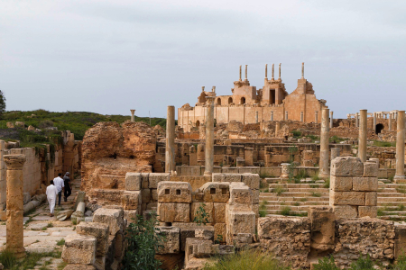 A view of Leptis Magna, a Unesco World Heritage site.