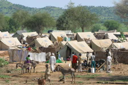 A view of Bredjing refugee camp in Chad.