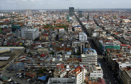 A view of Phnom Penh.