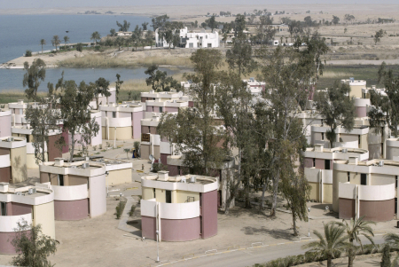 A view of the tourist village of Habaniya, near Falluja, Iraq.