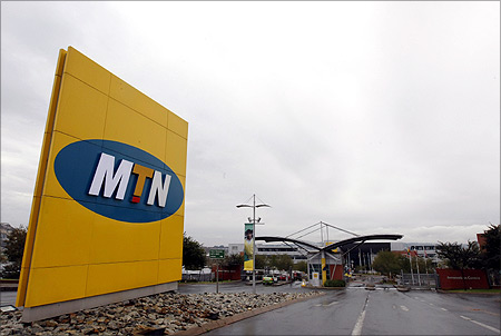 A general view of the headquarters of South Africa's MTN Group in Johannesburg.