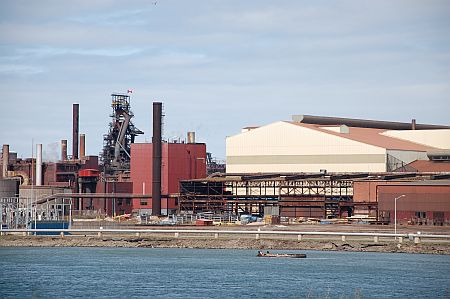 A view of Algoma Steel plant.