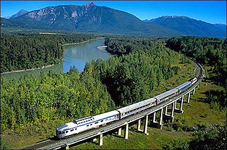 Moscow-Vladivostok trans-Siberian rail.