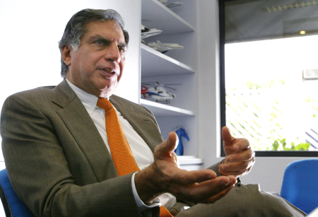 Ratan Tata during an interview in Mumbai.