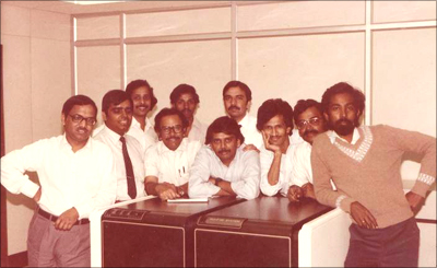 The Infosys co-founders and colleagues in the early 1980s.