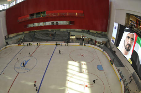 An Olympic-sized ice rink at the Dubai Mall.