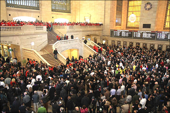 A view of Apple's newest store in New York's Grand Central Station.