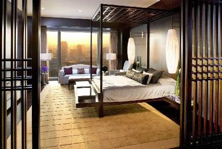 A Mandarin hotel suite, Tokyo.