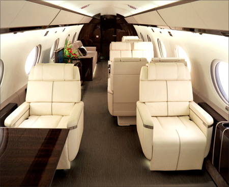 G650 interior.