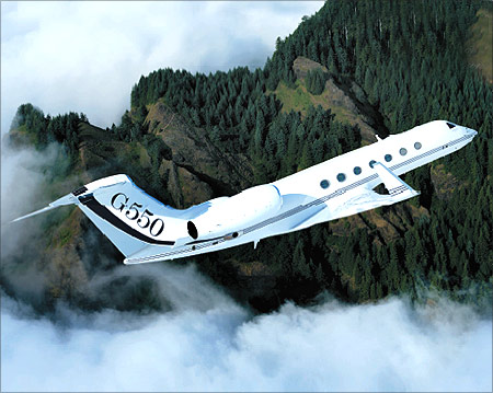 The Gulfstream G550.