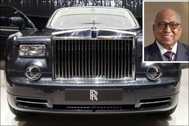 Capt C P Krishnan Nair and his Rolls Royce Phantom.