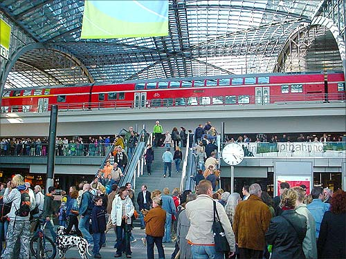 Berlin Hauptbahnhof station.