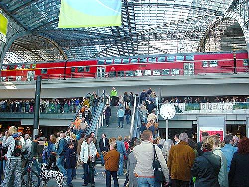 Berlin Hauptbahnhof station.