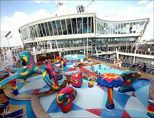 Onboard the world's biggest cruise ship