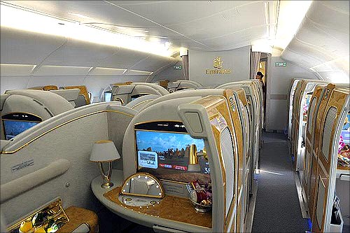 Emirates' Airbus A380.