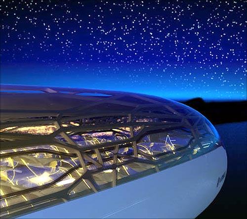 Airbus's concept transparent plane.