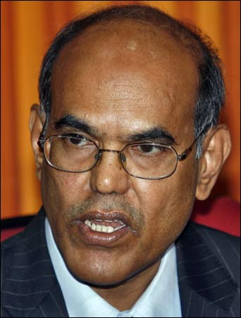 Reserve Bank of India Governor D Subbarao.