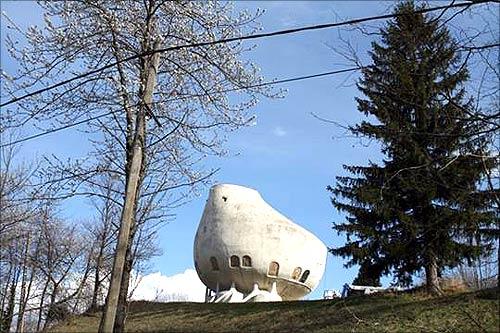 Weird House in Alps,