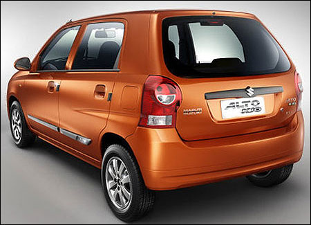 Side-rear view of Alto K10.