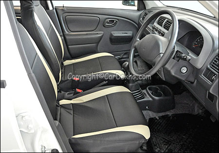 Front seats of Alto K 10.