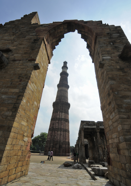 A view of the Qutub Minar in New Delhi.