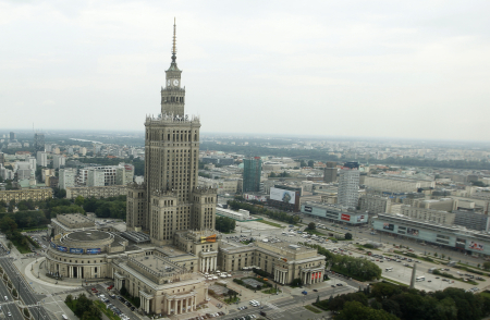 A view of capital Warsaw.