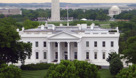 Attempt is to make democracy more fully functional and representative. A view of the White House.