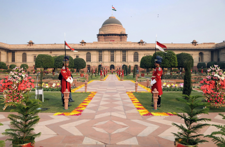 A view of the Rashtrapati Bhawan in New Delhi.