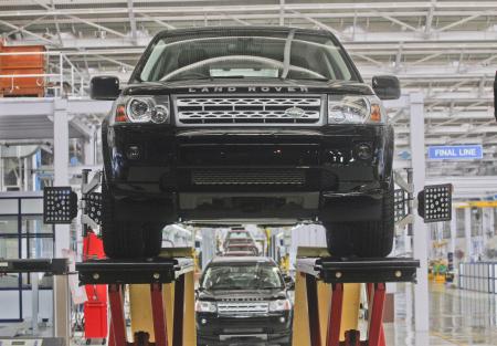 Jaguar Land Rover Freelander 2 at a plant in Pune.