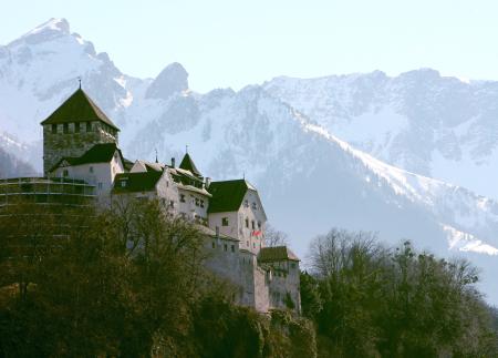 Vaduz Castle in Liechtenstein's capital Vaduz.