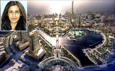 Ayesha Khanna, inset, says over 70 per cent of the world's population will live in cities by 2050.