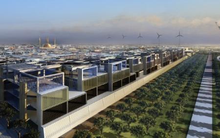 Masdar, a smart city in the UAE.