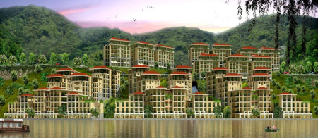 A view of Lavasa, a private, planned city between Mumbai and Pune.