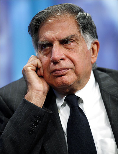 Ratan Tata in a panel discussion.